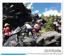 火山学者と歩く、浅間溶岩遊歩道