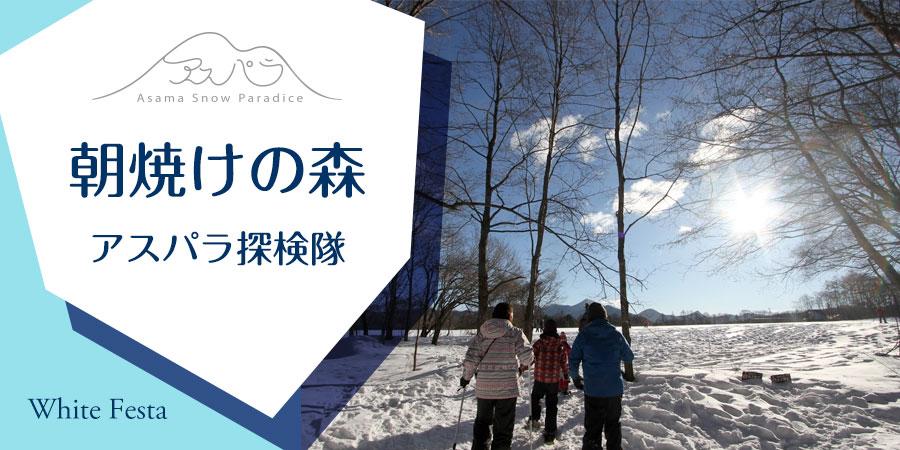 【ホワイトフェスタ】朝焼けの森 アスパラ探検隊