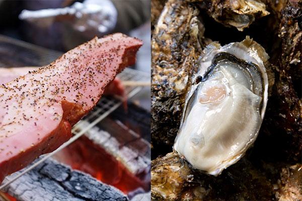 ベーコン&岩牡蠣