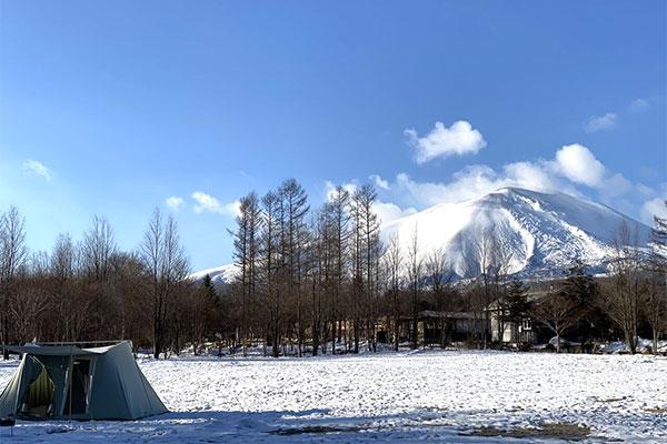 浅間山の雪