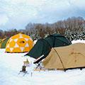 雪上キャンプ