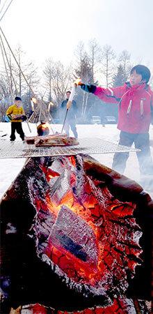 フィンランド焚火