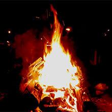 チョモランマ焚火